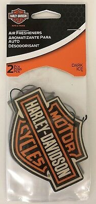 Harley-Davidson 2-pack Air Freshener Dark Ice Bar & Shield  Logo Car Truck NEW