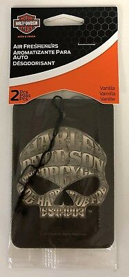 Harley-Davidson 2-pack Air Freshener Vanilla Sugar Skull Car Truck NEW