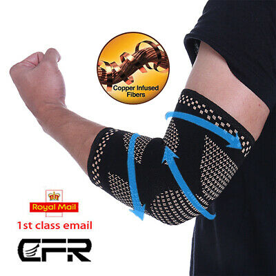 Magnetic Elbow Support Brace Arthritis Bandage Tennis Arm Sleeve Wrap Strap HT