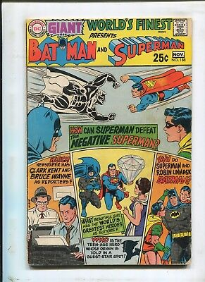 "Worlds Finest Comics #188 - ""batman And Superman!"" - (4.0) 1969"