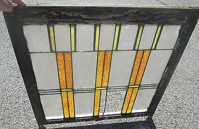 Frank Lloyd Wright Type Design Antique Stained Glass Window Arts & Crafts # 631