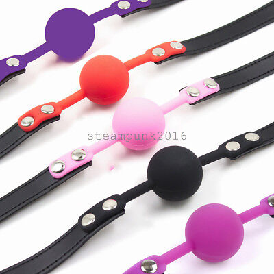 Open mouth Oral Harness Silicone Gag Mouth Restraint Toy Roleplay Slave Game