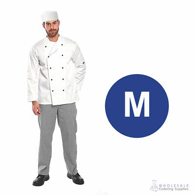Chef Student Uniform Kit Long Sleeve Coat White with Shoes Cook Kitchen Medium