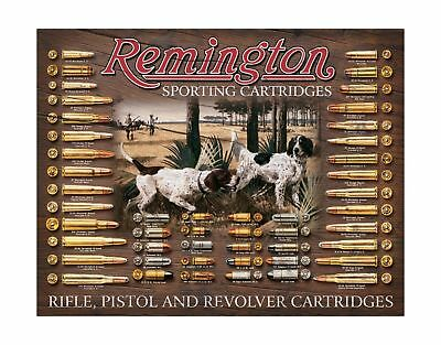 "Remington Bullet Board Tin Sign 12.5"" X 16""  16x12"