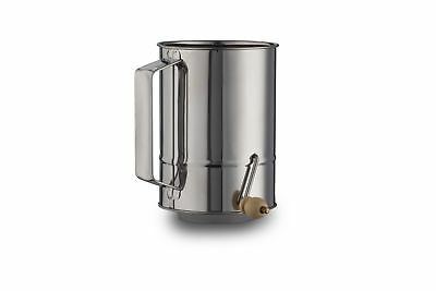 4 Cups Crank Flour Sifter Stainless Steel Polished Finish ( by Kitchen Winner...