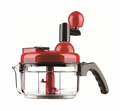 4 Cup Manual Hand Food Processor - All in 1 Chopper Blender Salad Spinner for...