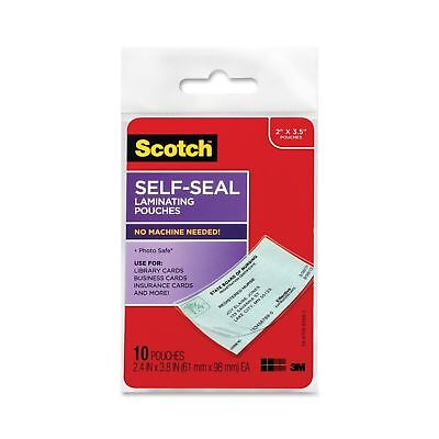 Scotch Self-Sealing Laminating Pouches Business Card Size 2 Inches x 3.5 Inch...