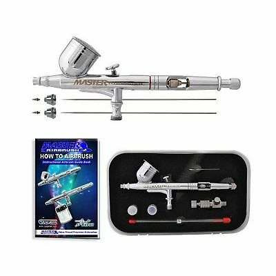 Master Airbrush G233-SET Multi-Purpose Precision Dual-Action Gravity Feed Air...