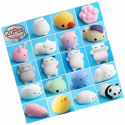 Mini Squishies Kawaii Outee 20 Pcs Animal Squishies Mochi Squeeze Toys Soft S...