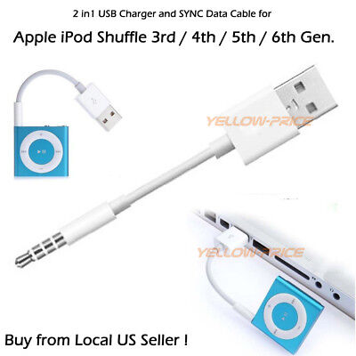 For iPod Shuffle 2nd. 3rd 4th 5th 6th 7 Gen USB Charger Data Sync Transfer Cable
