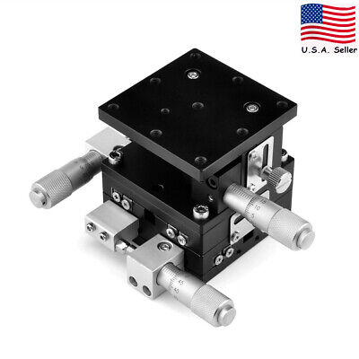 aXYZ 3 Axis Linear Stage Trimming Platform Bearing Tuning Sliding Table 60x60mm