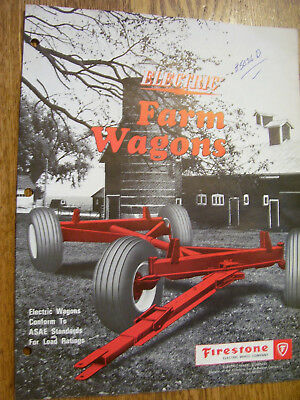Vintage Firestone Electric Wheel Co Advertising Brochure -Electric Farm Wagons