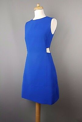 d64713a6631 TED BAKER DRESS Panashe royal blue cut out tunic Size 3 UK 12 ...
