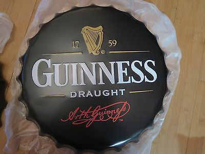 guinness draught  40 cm tin metal bottle cap sign MAN CAVE .
