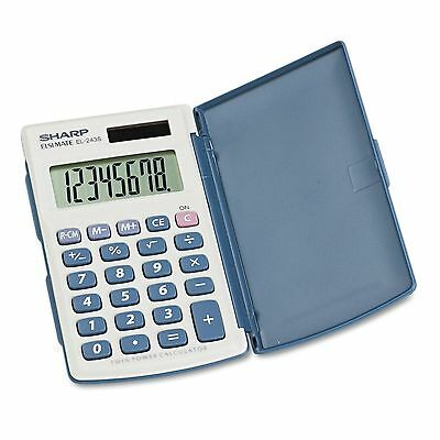Sharp-EL-243SB Solar Pocket Calculator-8-Digit LCD New