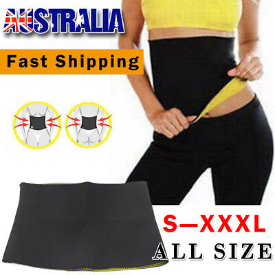 Hot Shapers Belt Slimming Body Shaper Belly Waist Tummy Trimmer Fat Burn Sweat