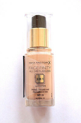 Max Factor Facefinity All Day Flawless 3in1 Foundation Make Up verschied. Nuance