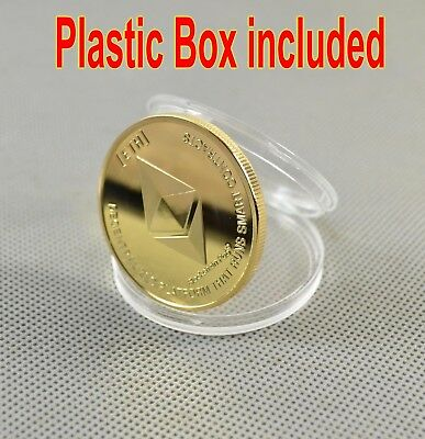 Gold Plated ETH Commemorative Collectible Ethereum Miner Coin Physical Gifts