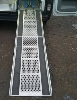 Heavy duty stainless vivaro pneumatic  lock access ramp  ambulance disabled