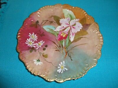 """Antique Limoges France Akcd Hand Painted Plate 9"""""""