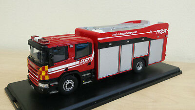 1:43 Scania/Rosenbauer Fire Rescue Operations Support Tender Feuerwehr Singapur