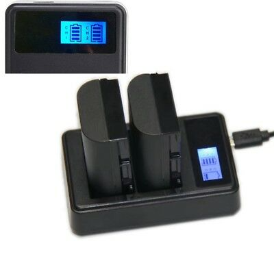 Dual LCD Display Battery Charger For Panasonic DMW-BLF19 GH3 GH3A GH4 DMW-BTC10