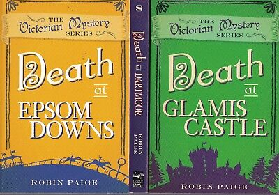 Robin Paige 3 Book Set - Death At Epsom Downs,  Dartmoor, Glamis Castle