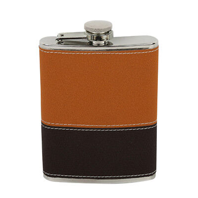 Portable Engraved 8 OZ Stainless Steel Hip Flask Personalized Flasks #3
