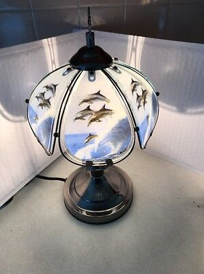 "Dolphin Desk Lamp 14.25"" Dimmable Touch  Marine Theme"