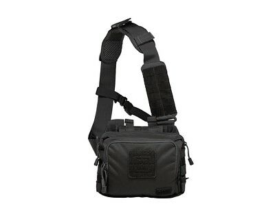5.11 Tactical 2 Banger Bag, Holds 2 AR Magazines and Back-up Handgun, Black