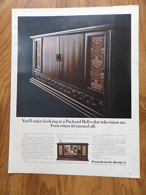 1967 Packard Bell Color Television Set Ad CRW606 Tamerlane Renaissance Antigua