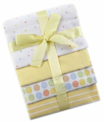 Luvable Friends 4-Pack Flannel Receiving Blankets Yellow