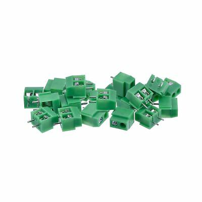 PCB Mount Screw Terminal Block Connector 100 Pack (2 Pole 5 mm Pitch 10A 300V)
