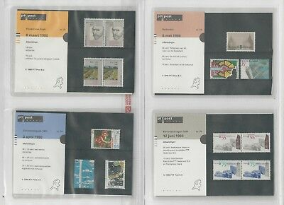 Netherlands Davo PTT Album, Mint NH Stamps & Sets, 16 Hingless Pages, 1990-92