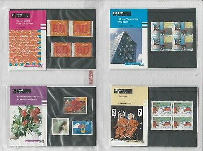 Netherlands Davo PTT Album, Mint NH Stamps & Sets, 17 Hingless Pages, 1999-00