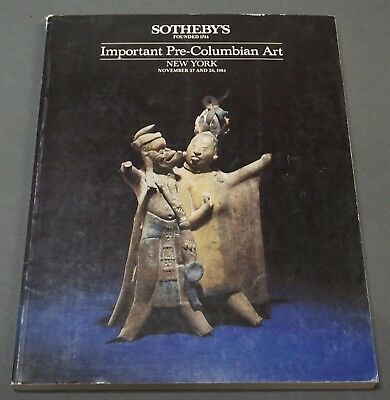 Sothebys Important Pre-Columbian Art NY May 1984 w/ prices realized