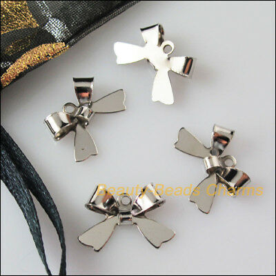 18 New Connectors Dull Silver Plated Animal Butterfly Charms Pendants 11x16mm