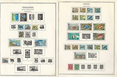 Tanzania Collection 1964-1970 on 3 One-Sided Minkus Specialty Pages