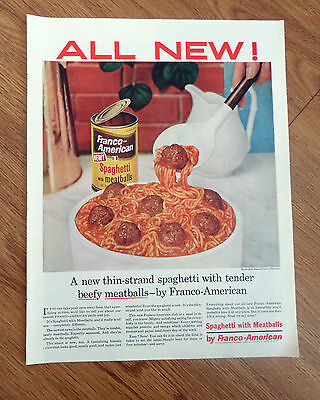 1955 Franco-American Spaghetti with Meatballs Ad