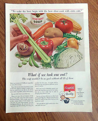 1962 Campbell's Soup Ad  What if we Took one Out?