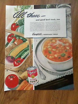 1945 Campbell's Soup Ad All These