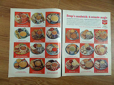 1964 Campbell's Soup Ad  21 Delicious Nutritious Meals