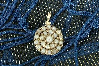 Unique Victorian / Edwardian Antique Vintage 9ct Gold Pearl Pendant. NICE1