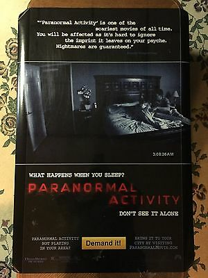 Original PARANORMAL ACTIVITY Authentic 27x40 Double Sided Rolled Movie Poster.