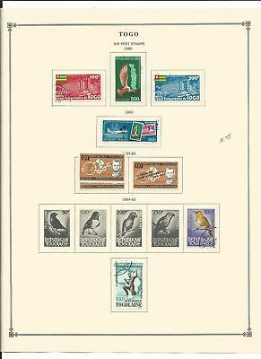 Togo Collection 1957-1973 Airpost & Semi's on 12 Scott International Pages