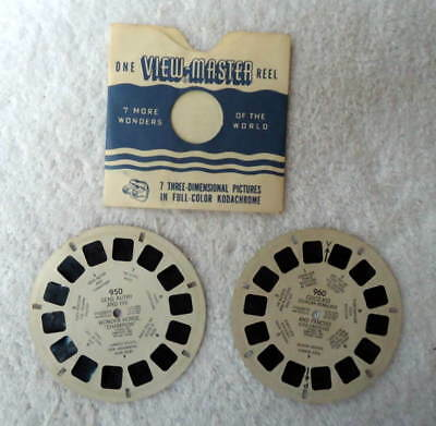 Two View-Master Reels Cisco Kid No 960 & Gene Autry No 950 #f6