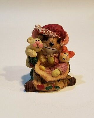 Mouse santa sack full of gifts  figurine