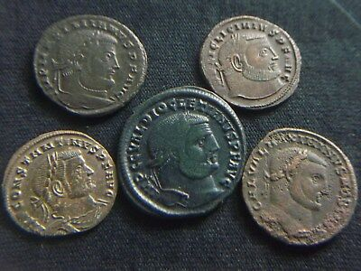 Lot of 5 Ancient Roman Coins, Large follis  CC8594