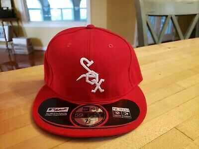 69651c49 Chicago White Sox New Era Turn Back the Clock 59FIFTY 5950 Fitted Hat Size 7
