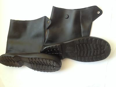 NEW TINGLEY 1400 Overboot, Men, XXL, Button Tab, Black, Rubber, Overshoes